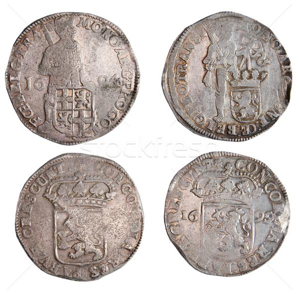 Antigua monedas diferente metales dinero metal Foto stock © sibrikov