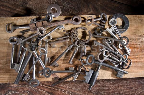 Antigua claves abierto diferente clave bloqueo Foto stock © sibrikov