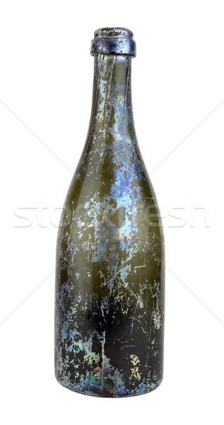 Fles antiquair glas vloeibare producten gebruikt Stockfoto © sibrikov