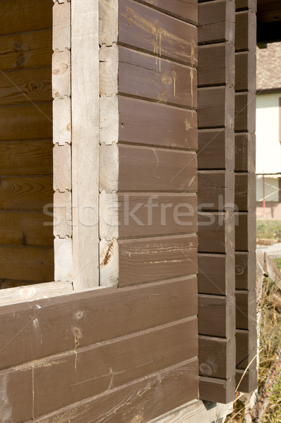 Wooden beams Stock photo © sibrikov
