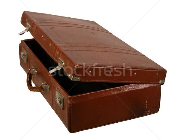 Edad marrón maleta luz bolsa retro Foto stock © sibrikov