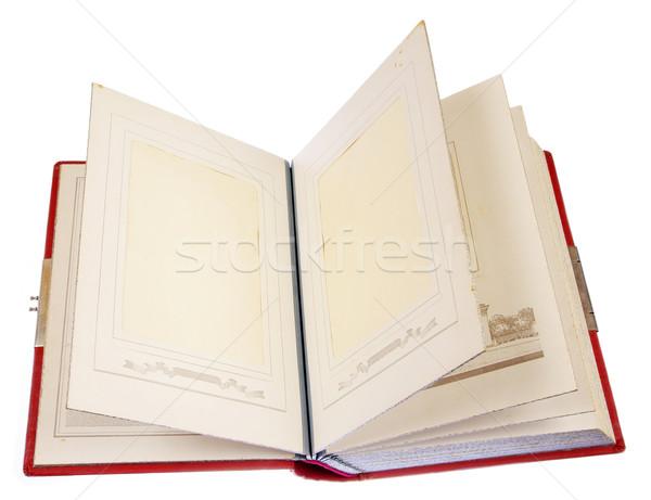 Foto stock: Velho · quadro · álbum · armazenar · família · fotos
