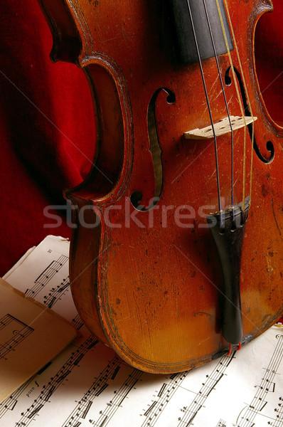 скрипки древних музыкальный инструмент концерта успех звук Сток-фото © sibrikov