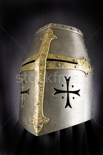 Stock fotó: Vasaló · sisak · középkori · lovag · nehéz
