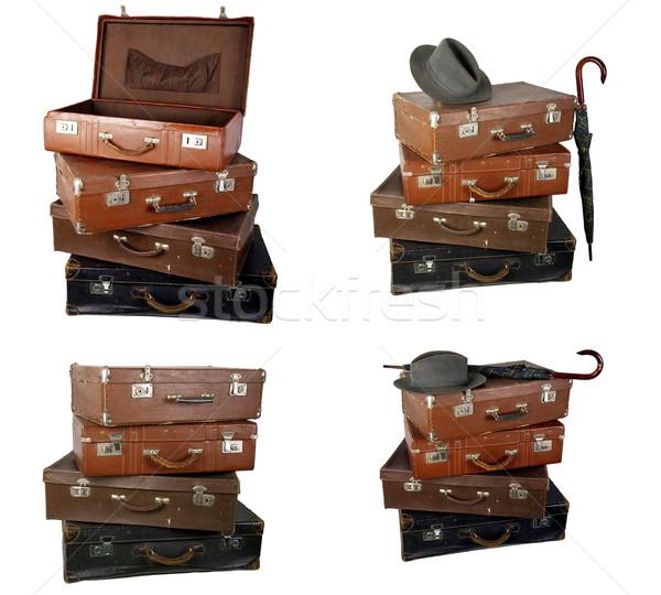 Edad marrón maleta luz viaje Foto stock © sibrikov