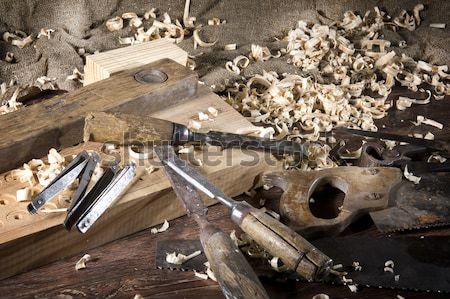 Workplace carpenter Stock photo © sibrikov