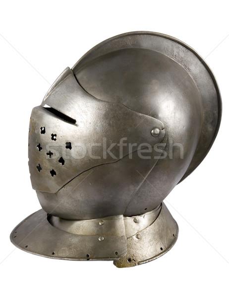 鉄 ヘルメット 中世 騎士 戦争 ストックフォト © sibrikov