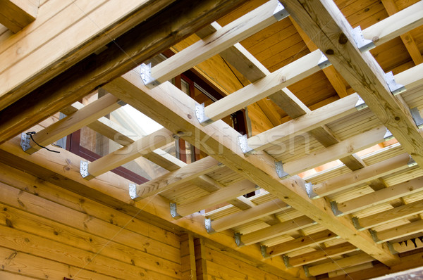 Wooden beams  Stock photo © sibrikov