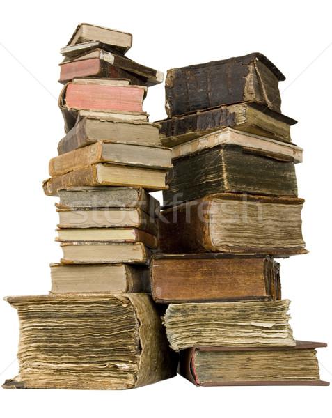 Starożytnych książek skóry papieru piśmie średniowiecznej Zdjęcia stock © sibrikov