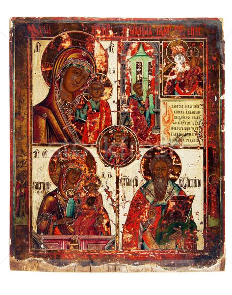 Ikon eski kilise bir boya İncil Stok fotoğraf © sibrikov