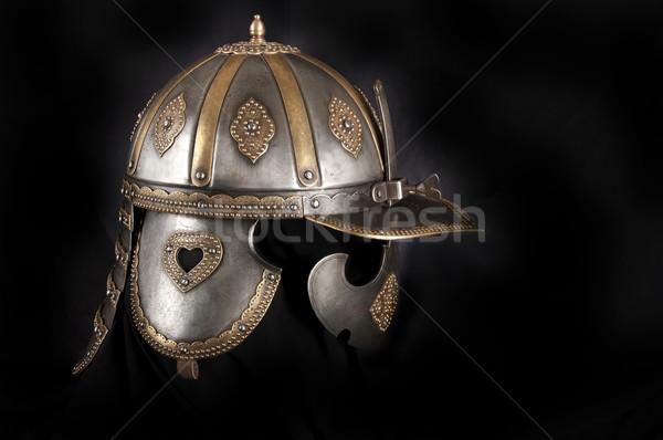 Hierro casco medieval caballero pesado Foto stock © sibrikov