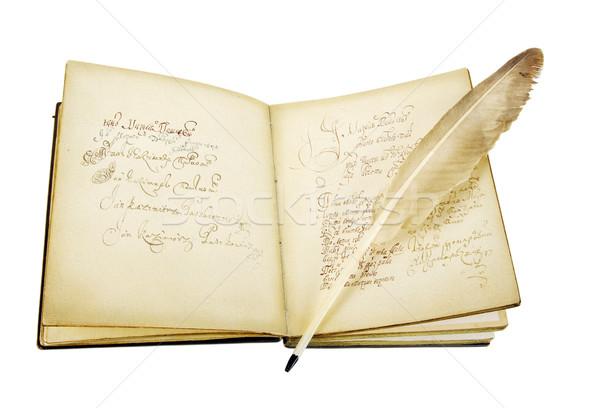 древних книга старые гусь Перу аннотация Сток-фото © sibrikov