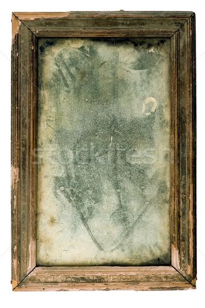 Antigo poeirento espelho antiquário quadro Foto stock © sibrikov