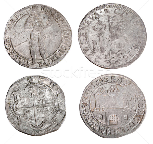 Ancient coins of different metals  Stock photo © sibrikov