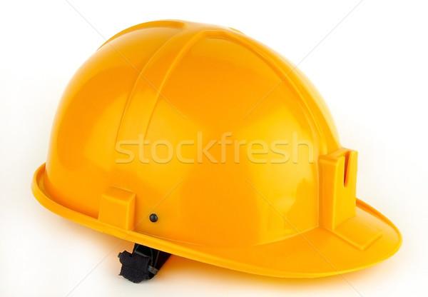 Casco constructor diferente colores trabajo trabajador Foto stock © sibrikov