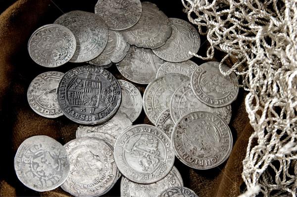 Plata moneda edad monedas dinero Foto stock © sibrikov