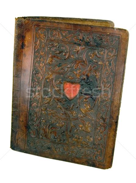 Eski kitap deri soyut sanat siyah Stok fotoğraf © sibrikov
