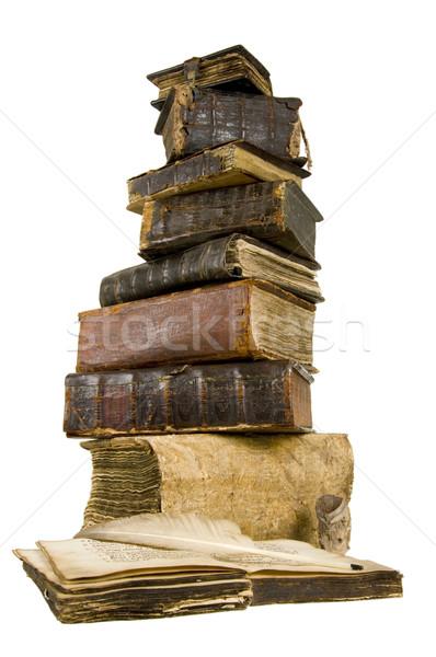 Antigua libro libros luz papel escrito Foto stock © sibrikov