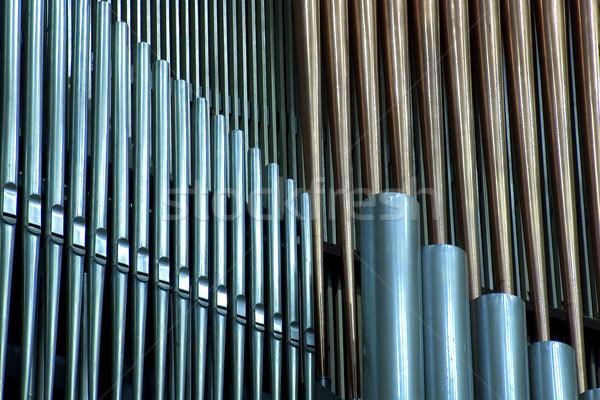 オルガン 伝統的な パイプ 音楽 ツール パイプ ストックフォト © sibrikov