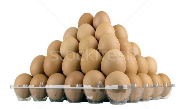 Huevos sabroso alimentos granja vida Foto stock © sibrikov