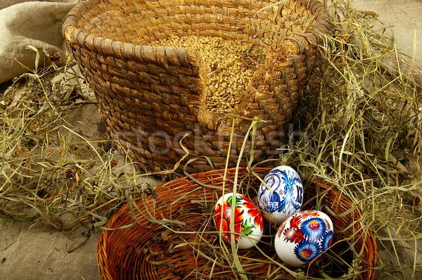 окрашенный яйца символ религиозных праздник Пасху Сток-фото © sibrikov
