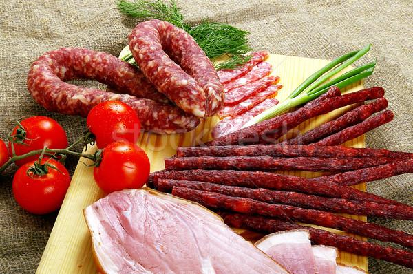 Carne salchicha productos popular comida muchos Foto stock © sibrikov