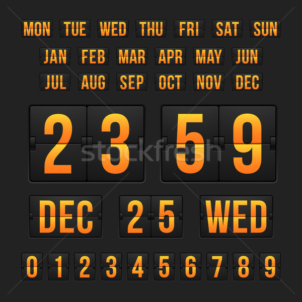 Countdown timer and date, calendar scoreboard Stock photo © sidmay