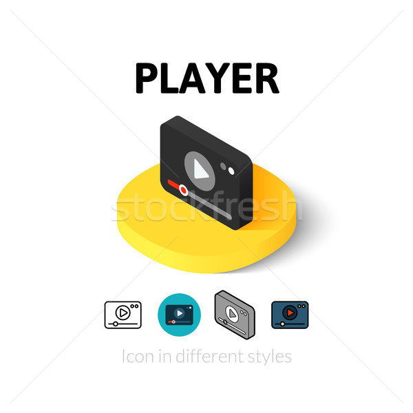 Player icon in different style Stock photo © sidmay