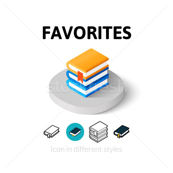 Favorites icon in different style Stock photo © sidmay