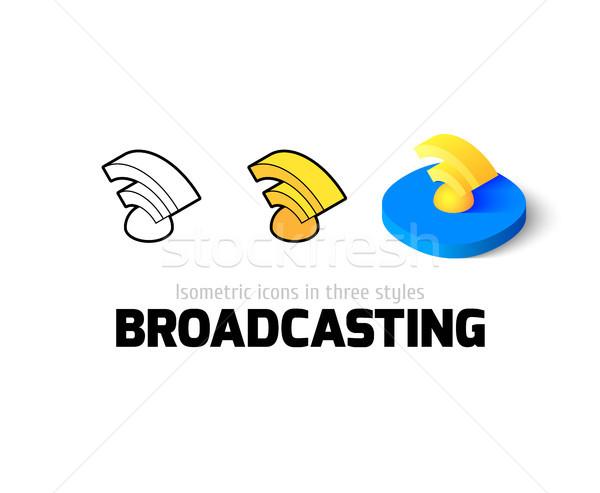 Műsorszórás ikon különböző stílus vektor szimbólum Stock fotó © sidmay