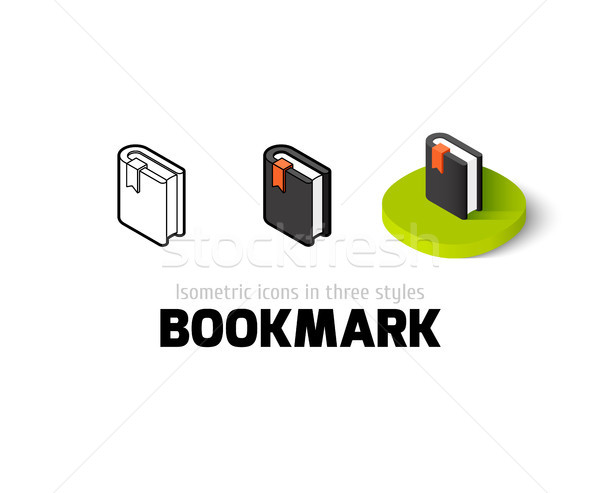 Bookmark icon in different style Stock photo © sidmay