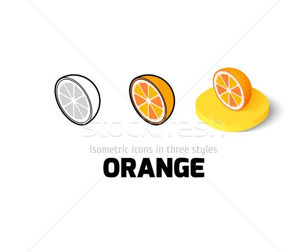 Arancione icona diverso stile vettore simbolo Foto d'archivio © sidmay