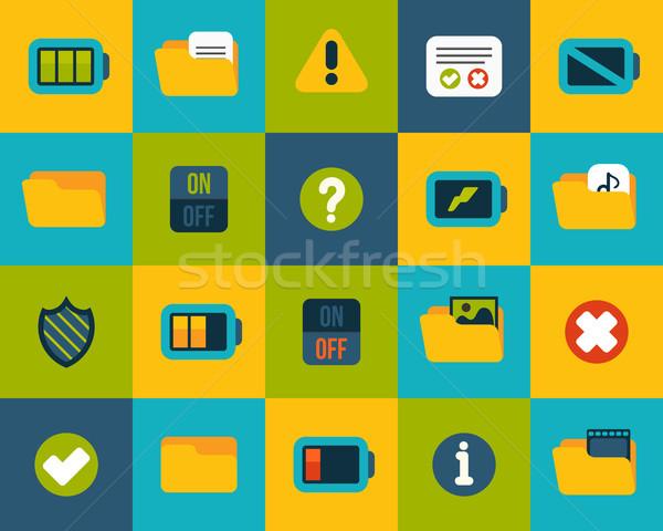 10 ícones vetor conjunto interface Foto stock © sidmay