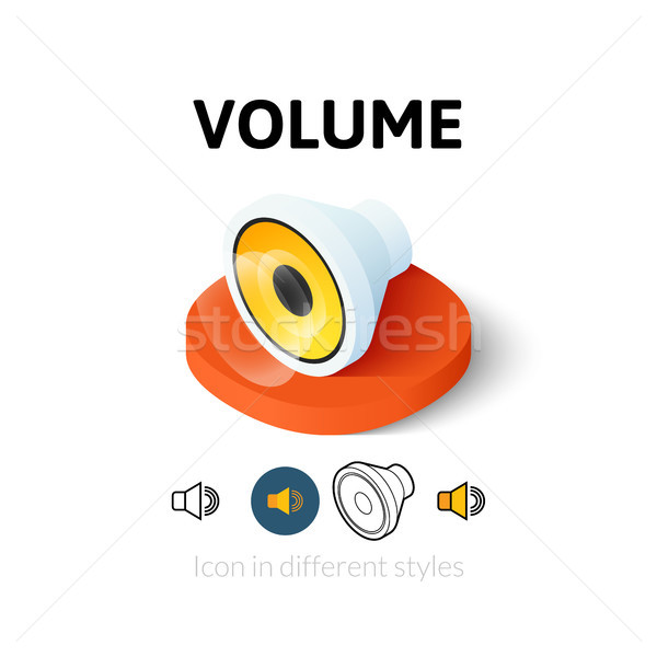 Volume icon in different style Stock photo © sidmay