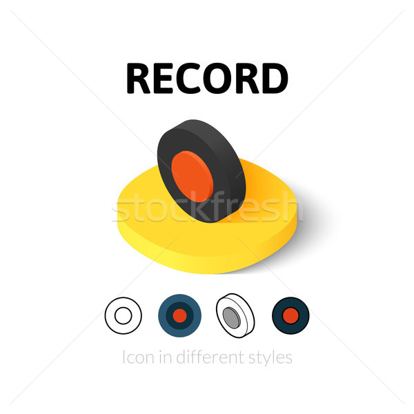 Record icon in different style Stock photo © sidmay
