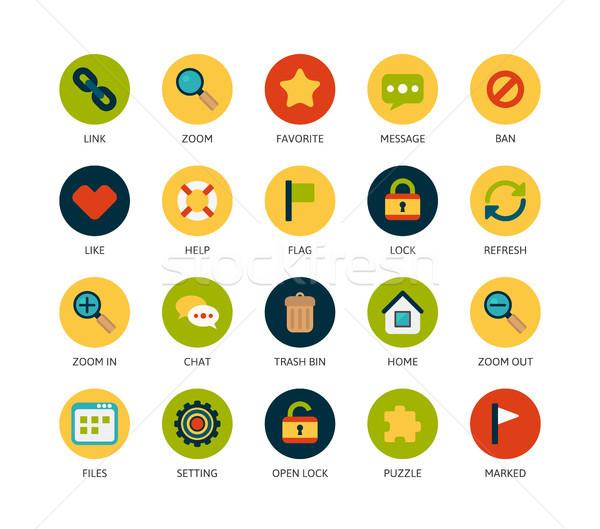 Foto stock: ícones · fino · projeto · moderno · linha · estilo