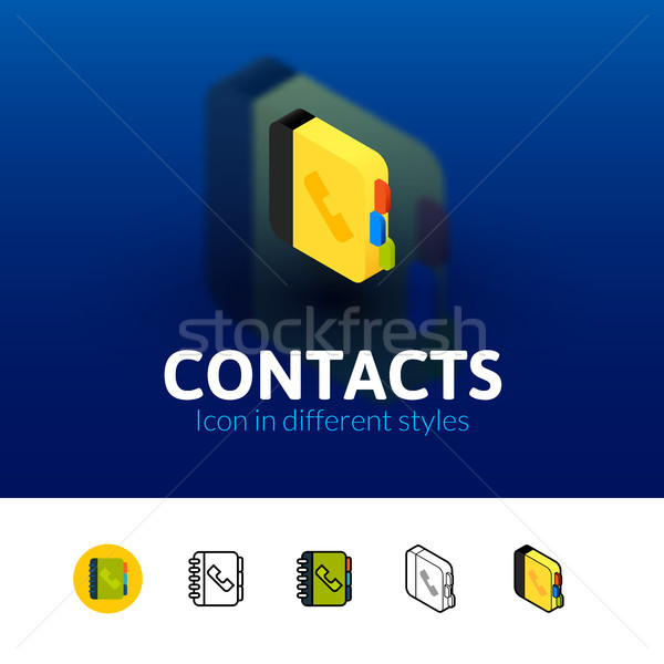 Contacts icon in different style Stock photo © sidmay