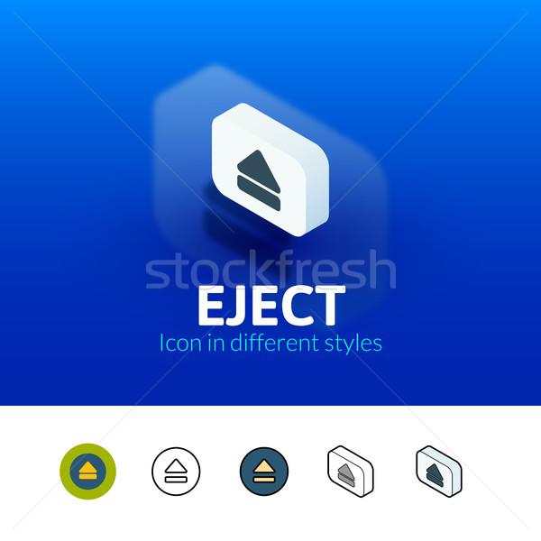 Symbol unterschiedlich Stil Farbe Vektor Symbol Stock foto © sidmay