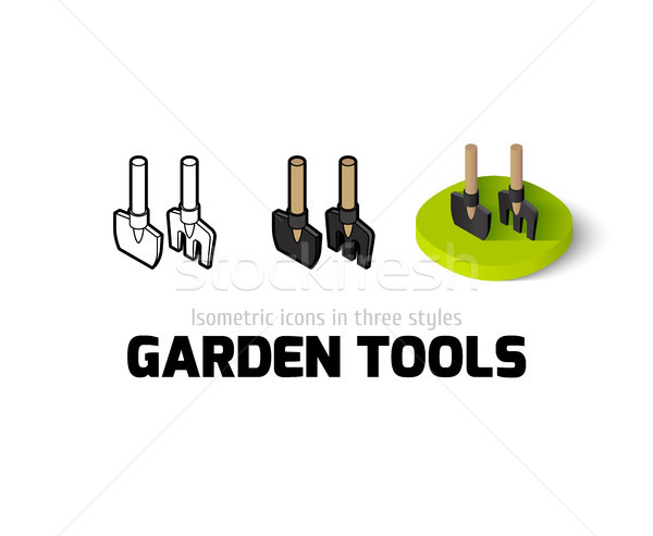 Garden tools icon in different style Stock photo © sidmay