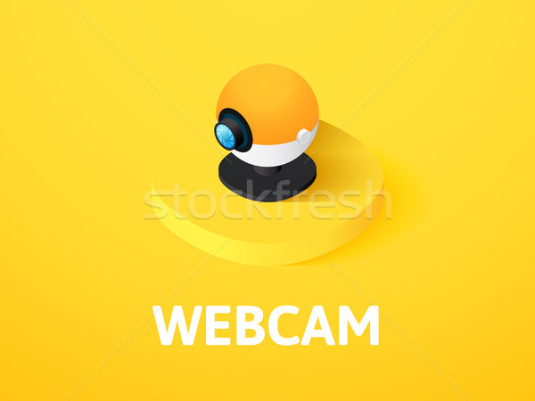 Webcam isometric icon, isolated on color background Stock photo © sidmay
