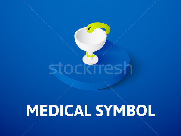 Medical symbol isometric icon, isolated on color background Stock photo © sidmay