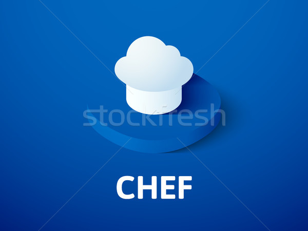 Chef isometric icon, isolated on color background Stock photo © sidmay