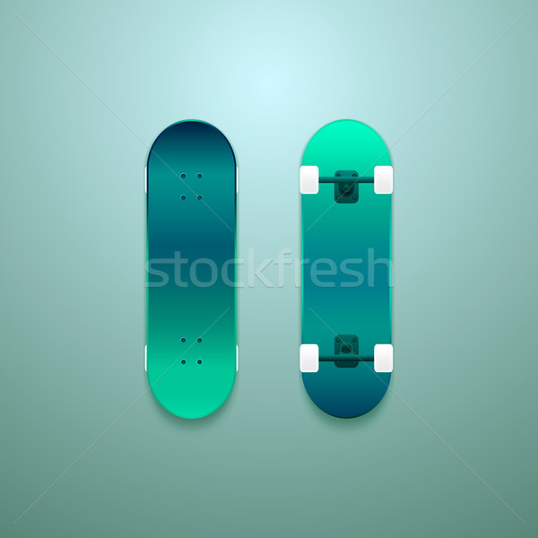 Set of vector skateboards Stock photo © sidmay