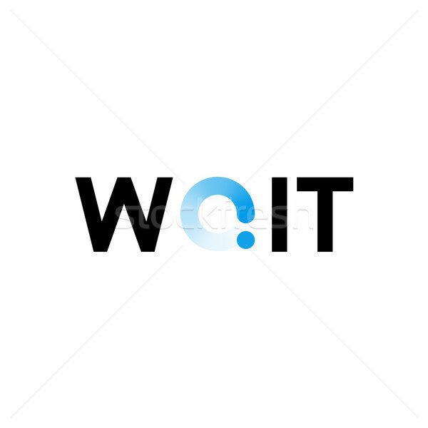 Wait technology logo, for you business or site, tech styles vector design Stock photo © sidmay