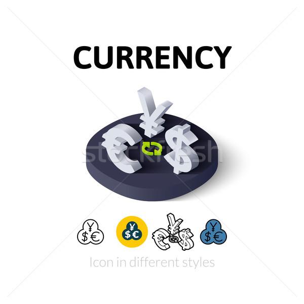 Valuta icoană diferit stil vector simbol Imagine de stoc © sidmay