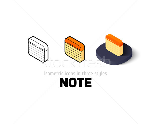 Note icon in different style Stock photo © sidmay