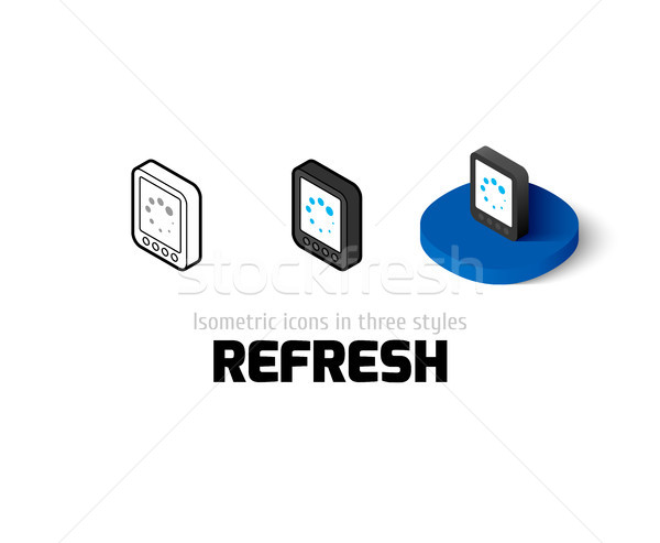 Refresh icon in different style Stock photo © sidmay
