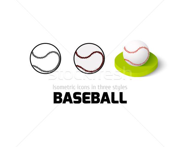 野球 アイコン 異なる スタイル ベクトル シンボル ストックフォト © sidmay