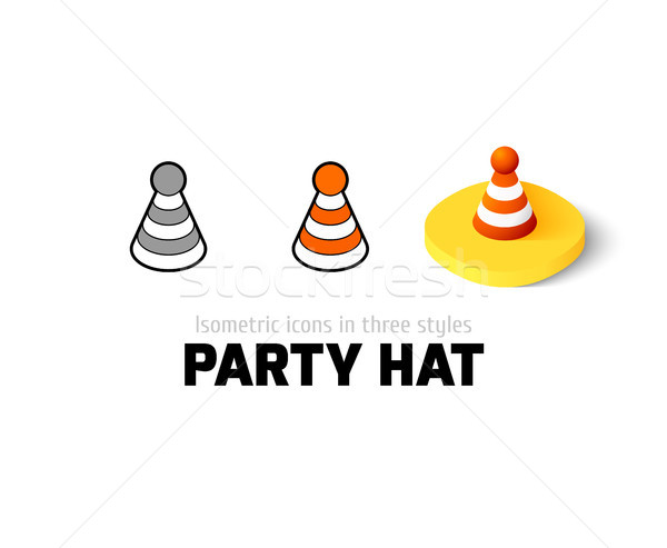 Party hat icon in different style Stock photo © sidmay