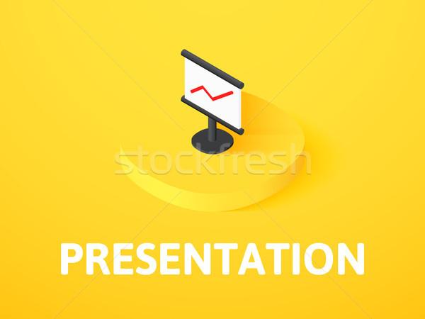 презентация изометрический икона изолированный цвета вектора Сток-фото © sidmay